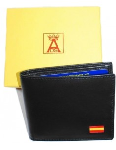 Black Wallet American style with Spain Flag