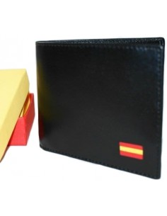 Black Wallet Flag Spain without Pocket