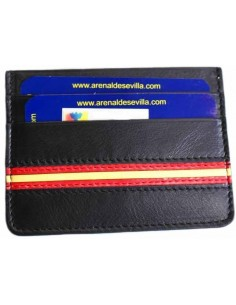 Black card wallet with the spanish flag