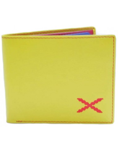 Yellow Borgoña's cross wallet-wide.