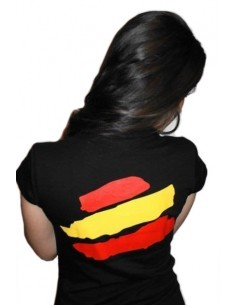 Spanish Local Police Woman T-Shirt - Black