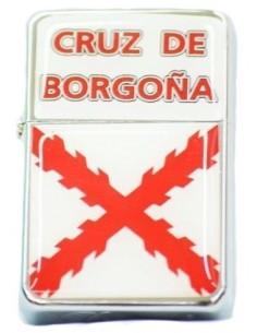 Burgundy Cross Zippo