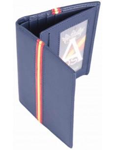 Spanish Flag Details Wallet - Royal Blue