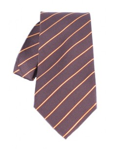 Spanish Flag Stripe Neck Tie - Brown