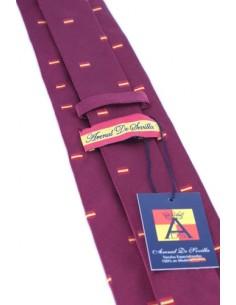 Corbata Banderitas España - Burdeos