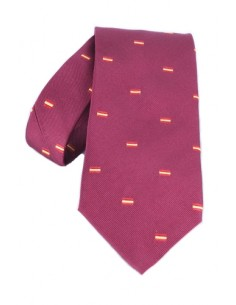 Spanish Flag Tie - Burgundy