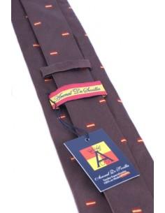 Corbata Banderitas España - Marrón