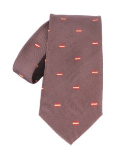 Spanish Flag Tie - Brown
