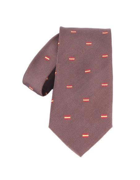Spanish Flag Tie - Brown