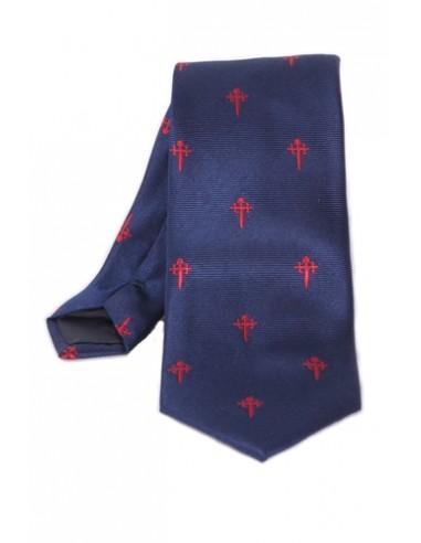 Santiago Cross Tie - Navy Blue
