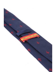 Santiago Cross Tie - Navy Blue