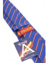 Striped Tie with Spanish Flag Details - Royal Blue