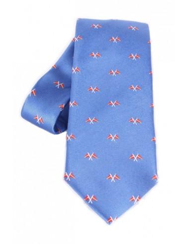 Nautical Flags Tie - Blue