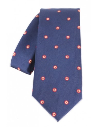 Spain Rosette Tie - Navy Blue