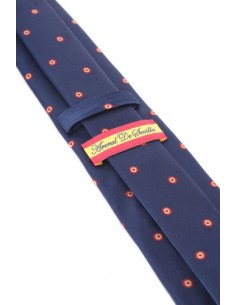 Spain Rosette Tie - Navy Blue