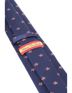 Nautical Flags Tie - Navy Blue