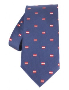 Dark blue tie with the spanish flag