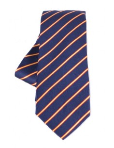 Striped Tie - Navy Blue