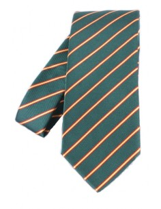 Striped Tie - Olive Green