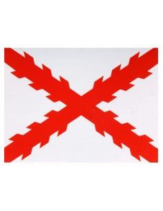 Pegatina Cruz Borgoña