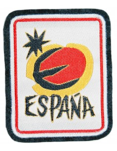 Embroidered patch Spain Sun looked