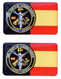 Pegatina Relieve Caballero Legionario 2 unidades