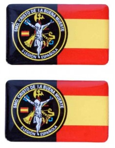 Spanish Legionnaire Flag Stickers
