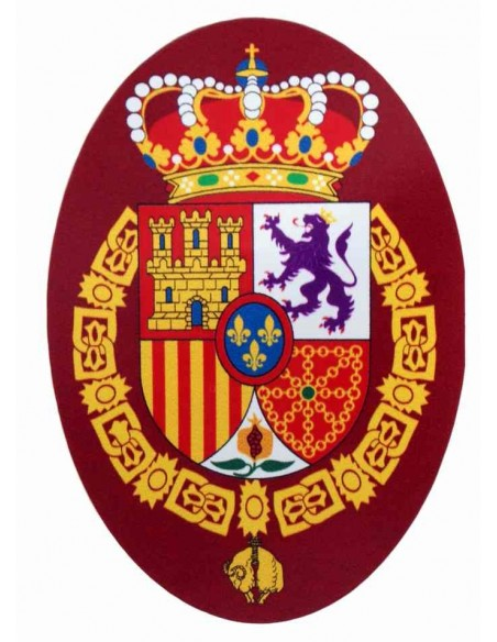 Oval sticker with the shield of Felipe VI Grande