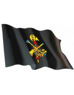 Spanish Legion Waving Flag Sticker