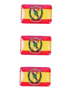 Pegatina Bandera España/Guardia Civil Mini Relieve