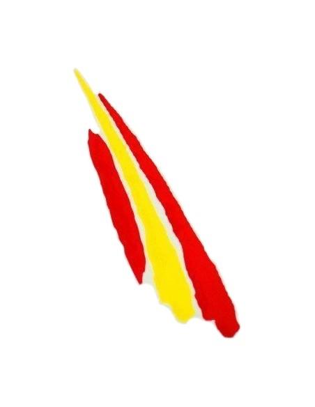 "Spanish flag ""painted"" sticker"