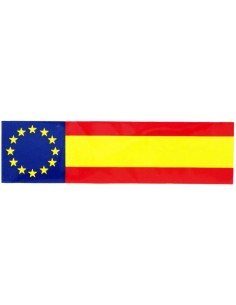 Spanish flag with the EU badge