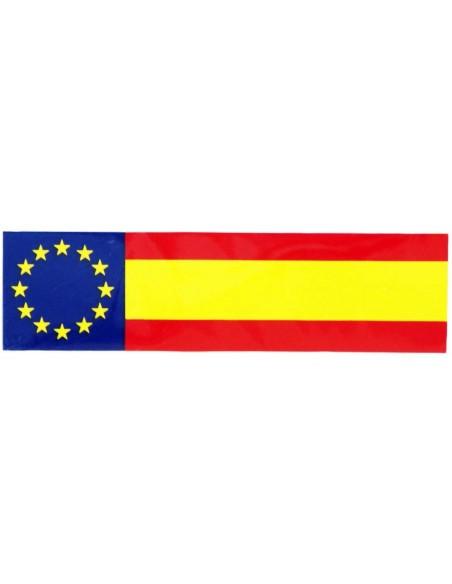 Spanish flag with the EU badge