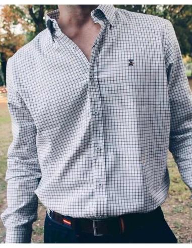 Checked Shirt - White