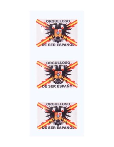 Pegatinas Mini Orgulloso de Ser Español con las aspas de san andres