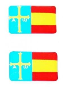 Pegatina Relieve 2 Unidades Asturias