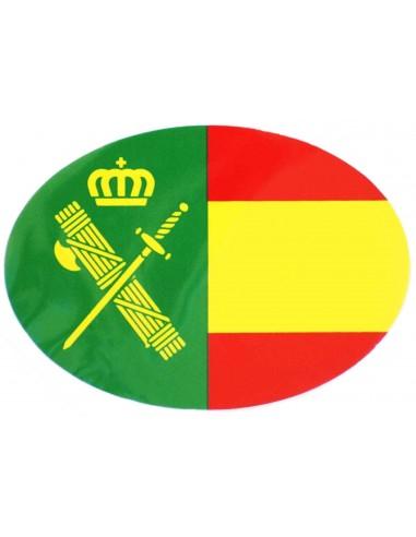 Spanish Civil Guard Flag Oval Sticker