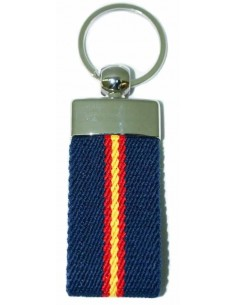 Spanish Flag Elastic Key Ring - Royal Blue