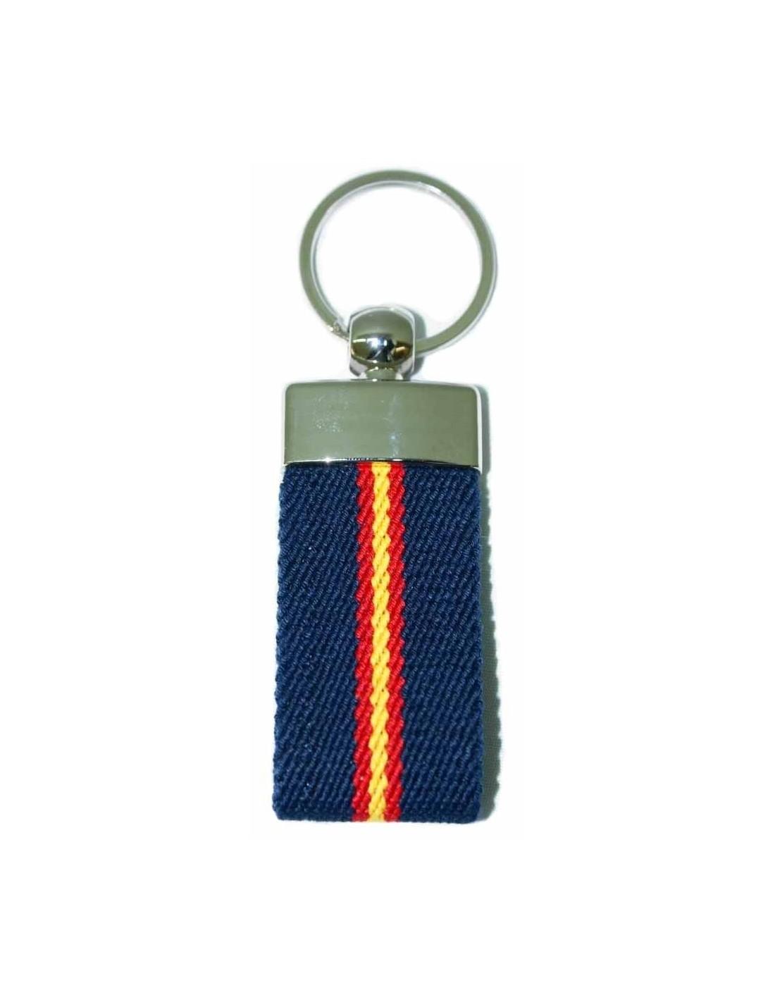 Spanish Flag Elastic Key Ring - Royal Blue. Loading zoom 2c4f249967