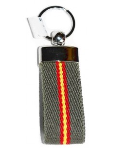 Spanish Flag Elastic Key Ring - Green