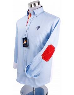 Camisa Coderas Burladero en Celeste