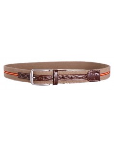 Spanish Flag Details Belt - Camel