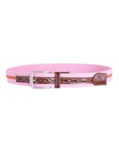 Spanish Flag Details Belt - Pink