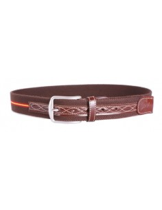 Spanish Flag Details Belt - Brown