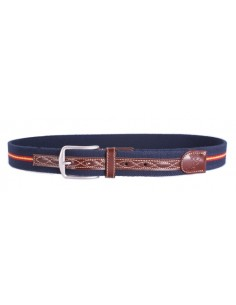 Spanish Flag Belt - Navy Blue