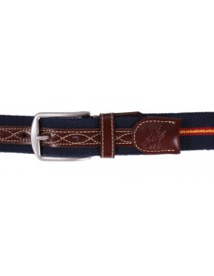 Spanish Flag Details Belt - Navy Blue