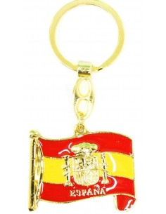 Wving Spanish Flag Key Ring