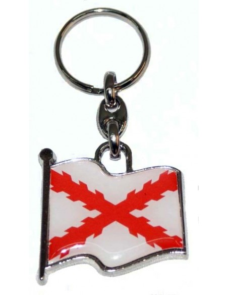 Llavero Bandera Cruz Borgoña