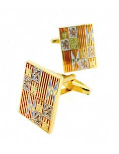 Catolic Kings badge cufflinks