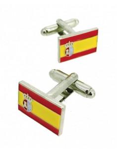 Gemelo Bandera de Guerra y Pabellón Nacional Español Plateado